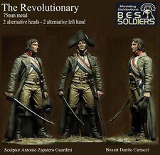 Soldados mejor el revolucionario modelo 75mm época napoleónica Kit de metal sin pintar