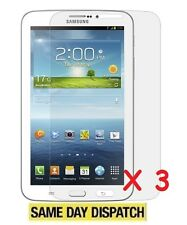 3 x Samsung Galaxy Tab 3 SM-T210/211 7.0 in (ca. 17.78 cm) LCD SCREEN PROTECTORS Film Cover