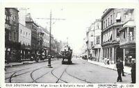 Hampshire Postcard - Old Southampton - High Street & Dolphin Hotel c1900  7518