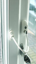 UPVC Window Door Cable Restrictor Child Safety White Key Lockable