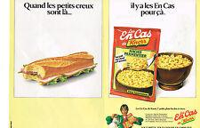 PUBLICITE ADVERTISING  1983  KNORR   les en cas  hachis parmentier  (2 pages)