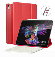 """For iPad Pro 11"""" Wireless Bluetooth Keyboard Slim Leather Smart Cover Stand Case"""