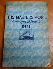 Australian HIS MASTER'S VOICE RECORD CATALOGUE 1936