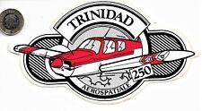 Rare Fine Complete Original Trinidad Aerospatiale 250 Aircraft Flying Sticker