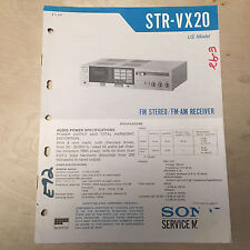 Sony Service Manual for the STR-VX20 Receiver ~ Repair