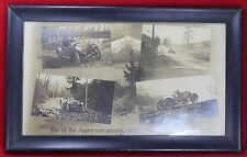 Apperson Automobile Framed Paper Advertising Sign - Car - Vintage
