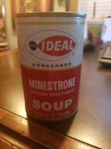Vintage Ideal ACME Markets Philadelphia Pa Tin Soup Can MINESTRONE (ITALIAN VEG)