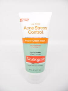Neutrogena Oil-Free Acne Stress Control Power-Cream Wash Microclear 6 fl. oz.