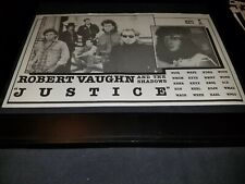 Robert Vaughn & The Shadows Justice Rare Radio Promo Poster Ad Framed! #2