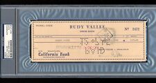 GEORGE JESSEL SIGNED CHECK FROM 1945 PSA/DNA SLABBED AUTOGRAPHED VAUDEVILLE STAR