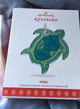 Hallmark 2017 HONU Green Sea Turtle Glass Keepsake Ornament NEW