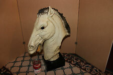 Unusual Plaster Horse Head Bust-Signed LCL-Large Horse-Carnival Attraction-LQQK