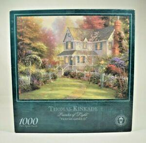 "Ceaco - Thomas Kinkade ""Victorian Garden II"" 1000 Piece Jigsaw Puzzle - Complete"