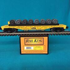 MTH O/O-27 30-7668 MTH Transport Flatcar with 8 Wheel Sets NIB