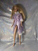 Barbie Doll Purple Lace Lingerie Cotton Panties Fashionista Excellent Blonde