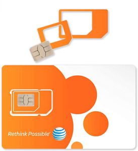 AT&T ATT Triple Cut 3 in 1 Card 4G LTE Sim Card New Unactivate Ready To Activate