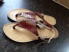 Lilley And Skinner Sandals Flip Flops Size 5 Rainbow Animal Print