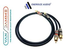 More details for pair van damme custom rca cables phono - pro audiophile silver plated pure ofc