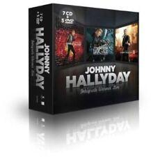 CD de musique Johnny Hallyday sur coffret avec compilation