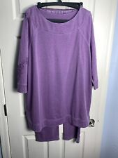 Chico's Zenergy Purple tunic Top 4 (XXL) / matching pants 3 (XL) —2 pc set