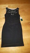 Ralph Lauren Kleid schwarz Weihnachten Silvester Neu Gr 38 40 42