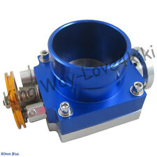 BLUE 80MM THROTTLE BODY PERFORMANCE INTAKE MANIFOLD BILLET ALUMINUM HIGH FLOW