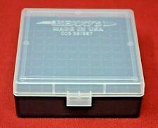 357 Mag / 38 Spl Ammo Box / Case / Storage 100 Rnd Boxes Clear (Buy 4 Get 1 Free