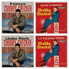 CHUBBY CHECKER: Collection of TWO Record Picture Sleeves, Twist Popeye NO 45