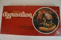 Vintage Deluxe Aggravation Family Board Marble Race Game 8321 Lakeside SEALED