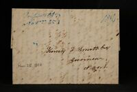 Vermont: Rupert 1840 Stampless Cover, Blue Ms, 18-3/4c Rate to Governeur, NY