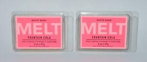 2 BATH & BODY WORKS WHITE BARN FOUNTAIN COLA WAX MELT MELTS TART CANDLE 2OZ SODA