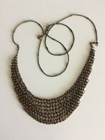 J.Crew Chain Maille Flexible Brasstone Chain Link Long Necklace 28 Inch