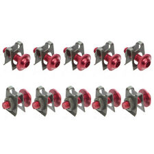 10Pcs Motorcycle M6 6mm Fairing Bolts Spire Speed Fastener Clip Screw Nut Red