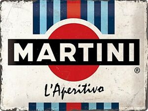 Martini Label embossed large metal sign 400mm x 300mm (na)