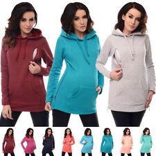 Winter Long Sleeve Women's Maternity Hoodies Breastfeeding Sweat Nursing Tops