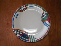 """Gibson CONTEMPO GEOMETRIC DESIGNS Dinner Plate 10 1/2"""" 1 ea    6 available"""