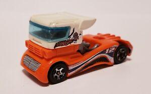 1998 Hot Wheels Mattel 18 Wheeler Semi Fast Orange Truck Diecast Metal
