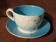 2006 Starbucks Cup & Saucer Blue/White Floral Very Nice Condition