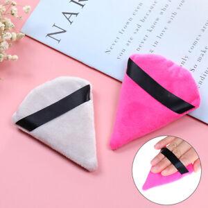 Triangle Velvet Cosmetic Puff Mini Beauty Sponge Wet Foundation Makeup PufF-xd