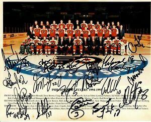 Philadelphia Flyers NHL 1994/95 Team Signed Photo Atlantic Division Champs JSA L