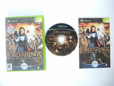LORD OF THE RINGS RETURN OF THE KING complete w box & manual XBOX videogame PAL