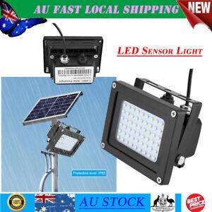 Solar Powered Panel Floodlight Night Light Sensor 54 LED Outdoor Fence Lamp AU