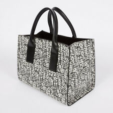 PAUL SMITH  NEW Women's Black And White 'etching' Print Calf Leather Tote Bag