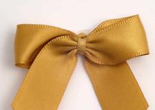 5cm Satin Bows - Gold Self Adhesive Pre Tied 16mm Ribbon Pack 12 FREE P&P