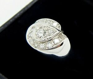 1930's 14K .79 Carat Old European and Transitional Cut Diamond Ring Size 8 1/2