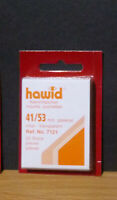 HAWID STAMP MOUNTS CLEAR Pack of 50 Individual 41mm x 53mm - Ref. No. 7121