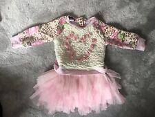 Baby Girls Kate Mack Tutu Animal Print Dress Fleece Size 18M Pink Party Occasion