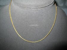 "LQQK Beautiful Vintage Real 18K yellow GOLD Foxtail CHAIN Necklace 16"" Choker"
