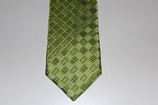 NEU Männer Herren Krawatte Binder Schlips Seide Länge 150 cm grün Karo OVP
