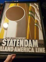 1929 Statendam Holland America Cruise Vintage signed Poster Cassandre